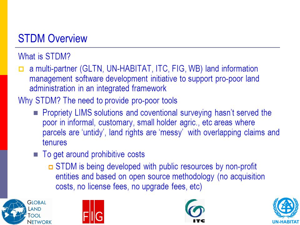 STDM Overview What is STDM