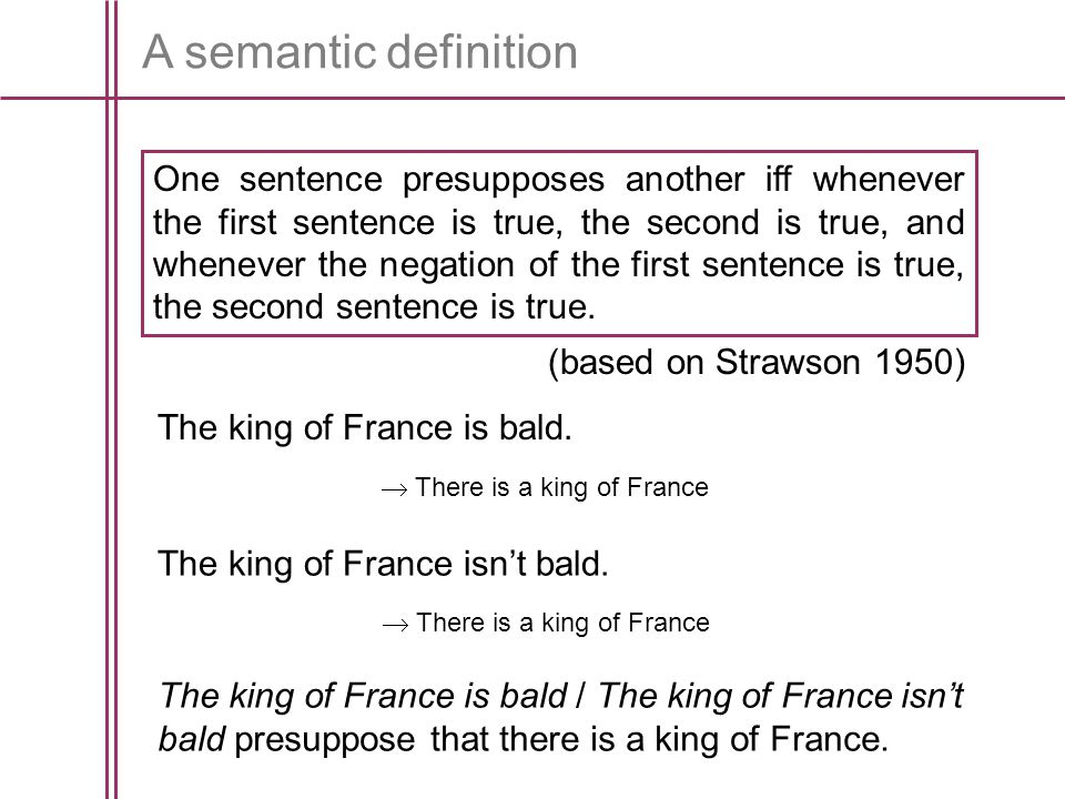 A semantic definition