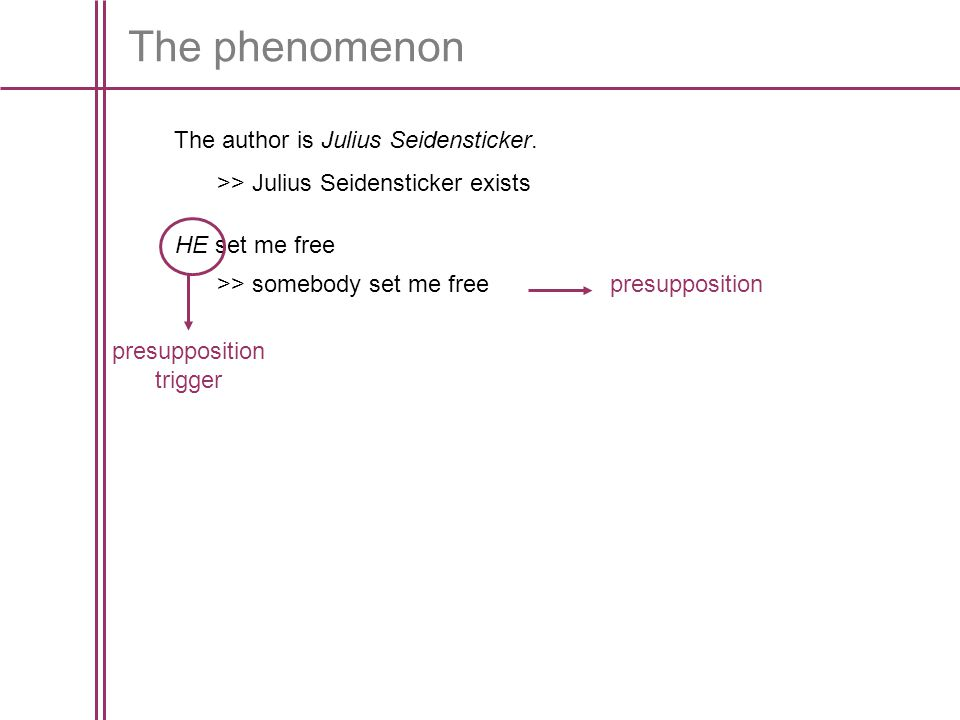The phenomenon The author is Julius Seidensticker.