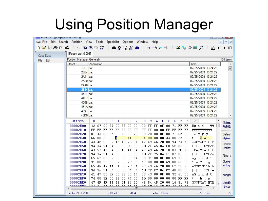 Using Position Manager