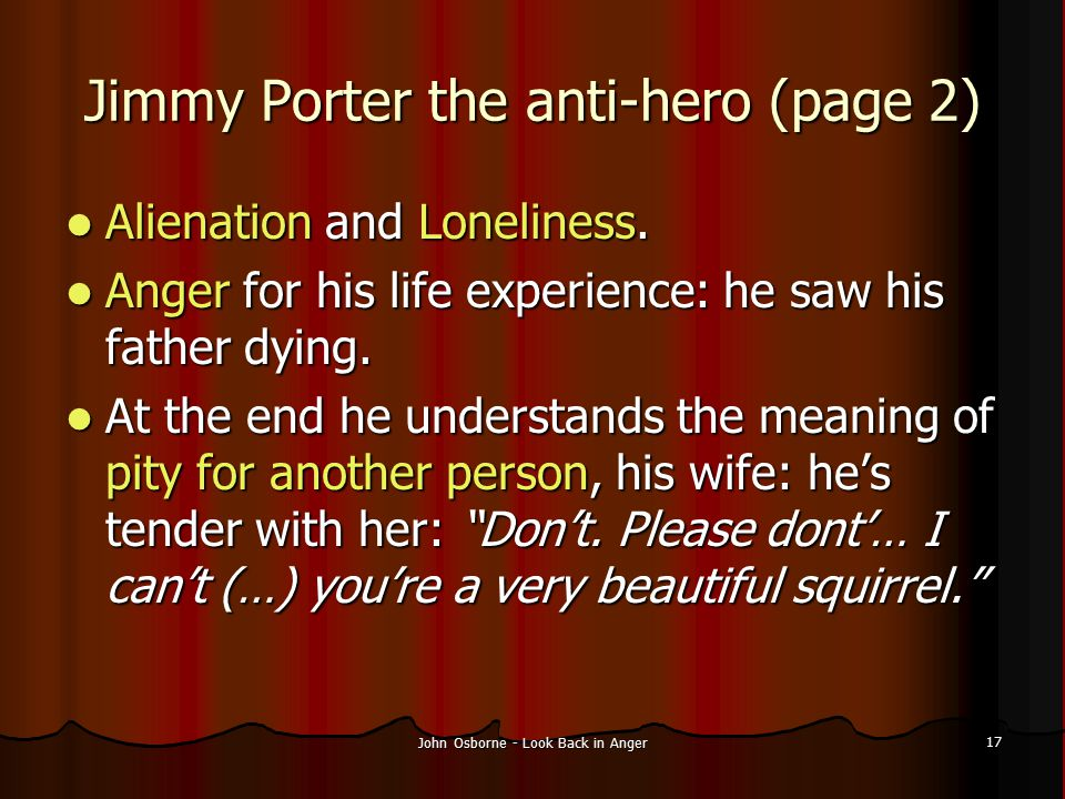Jimmy Porter the anti-hero (page 2)