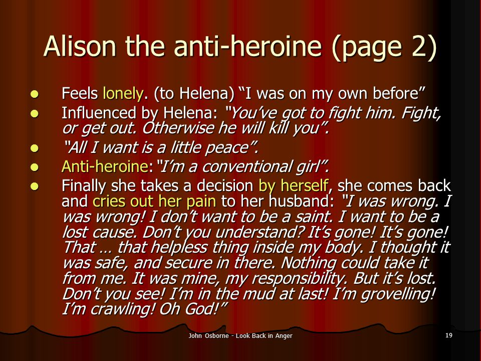Alison the anti-heroine (page 2)