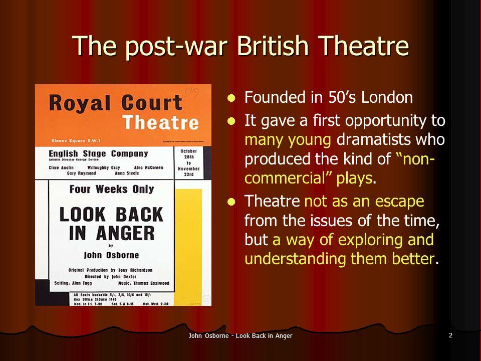 The post-war British Theatre