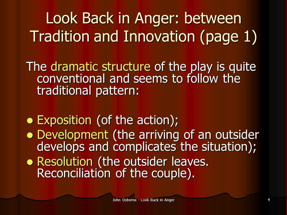 Look Back in Anger: between Tradition and Innovation (page 1)