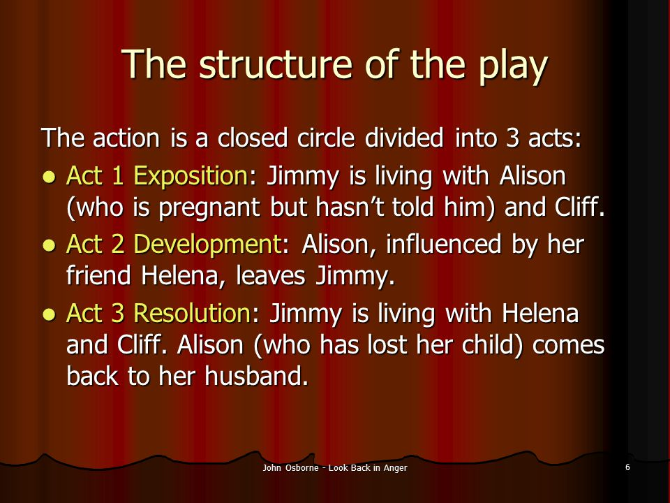 The structure of the play