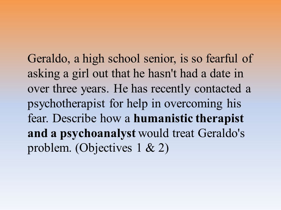 Geraldo, a high school senior, is so fearful of asking a girl out that he hasn t had a date in over three years.