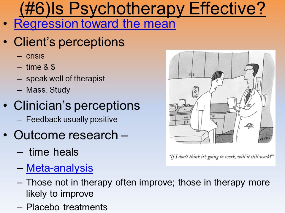 (#6)Is Psychotherapy Effective