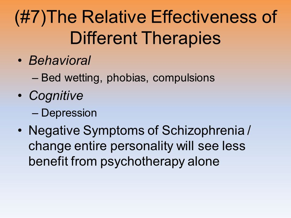 (#7)The Relative Effectiveness of Different Therapies