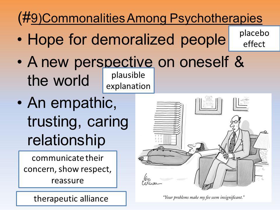 (#9)Commonalities Among Psychotherapies