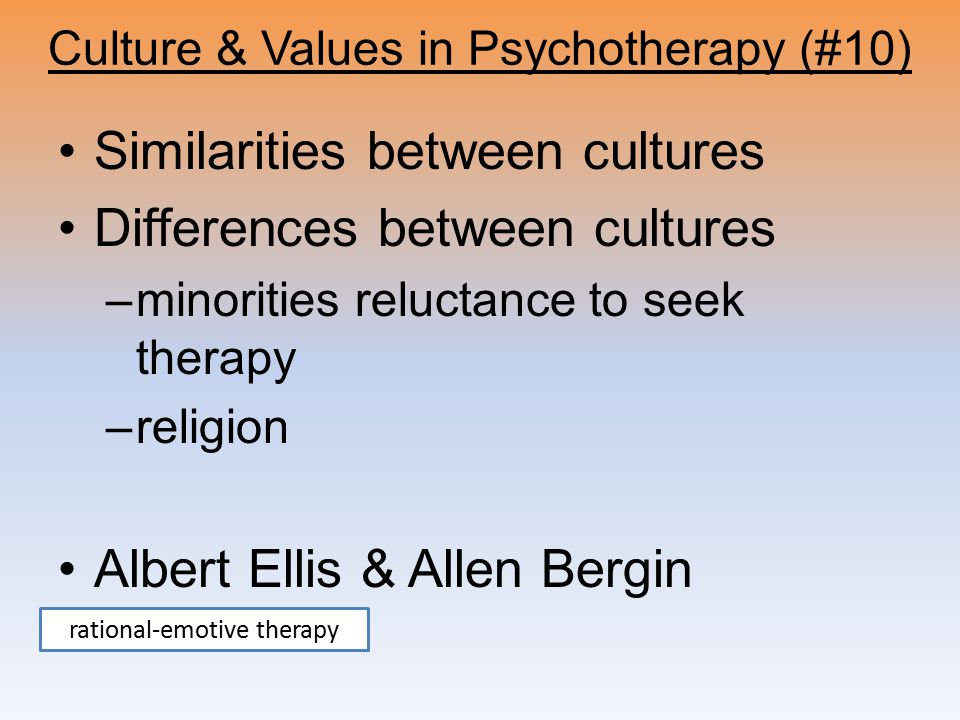 Culture & Values in Psychotherapy (#10)