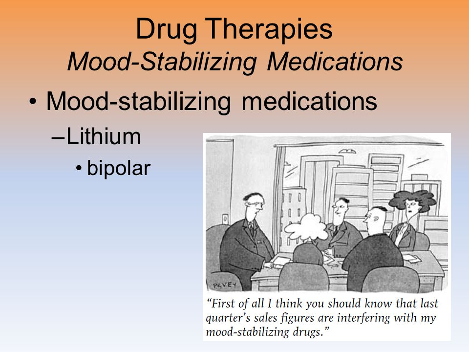 Drug Therapies Mood-Stabilizing Medications