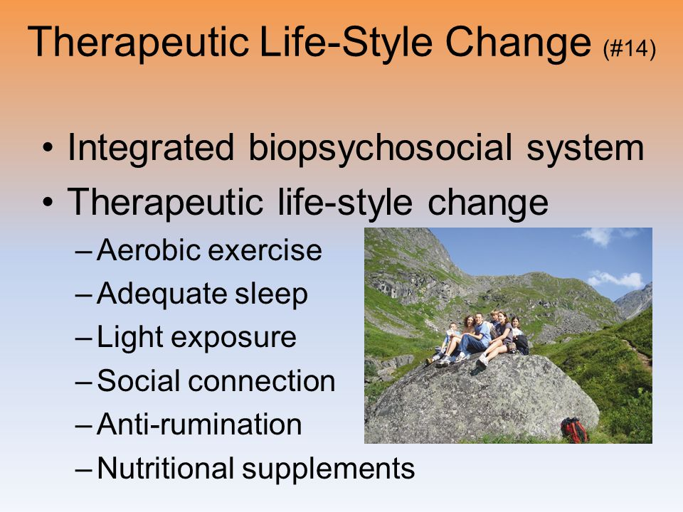 Therapeutic Life-Style Change (#14)