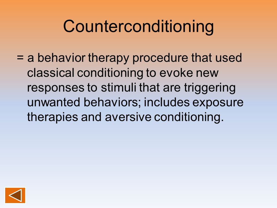 Counterconditioning