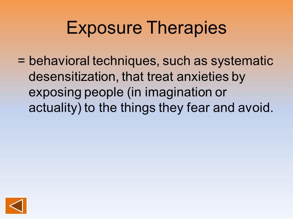 Exposure Therapies