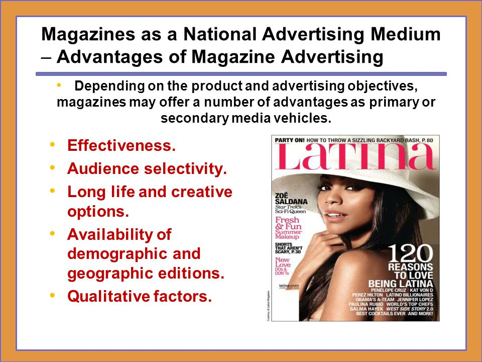Magazines as a National Advertising Medium – Advantages of Magazine Advertising