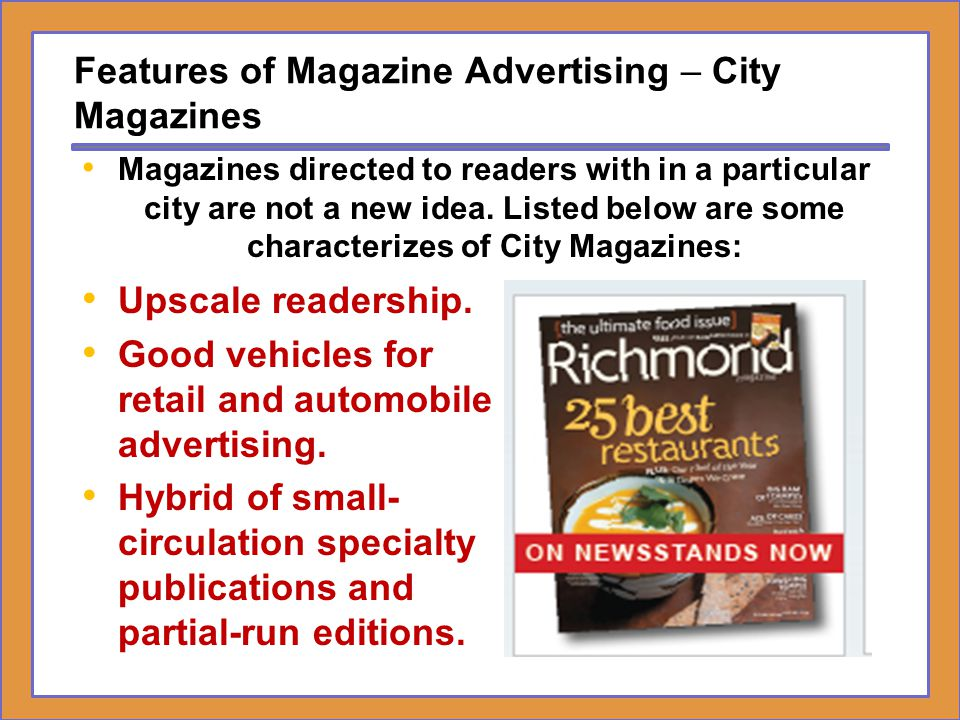 Features of Magazine Advertising – City Magazines