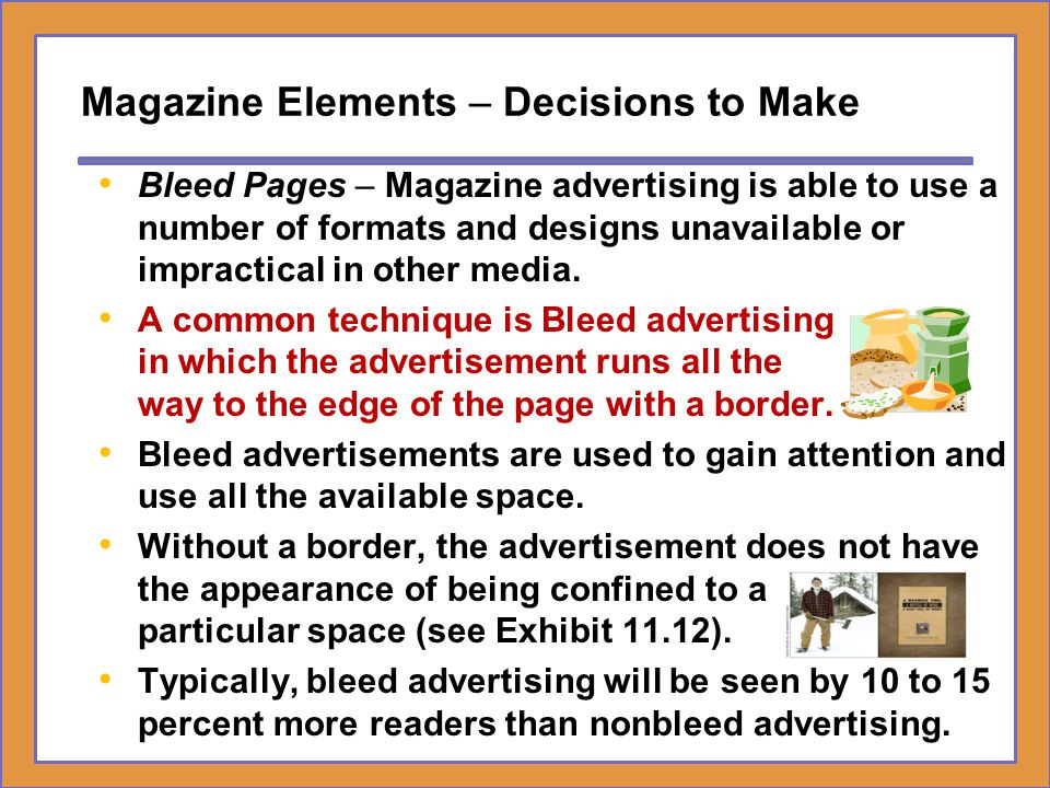 Magazine Elements – Decisions to Make