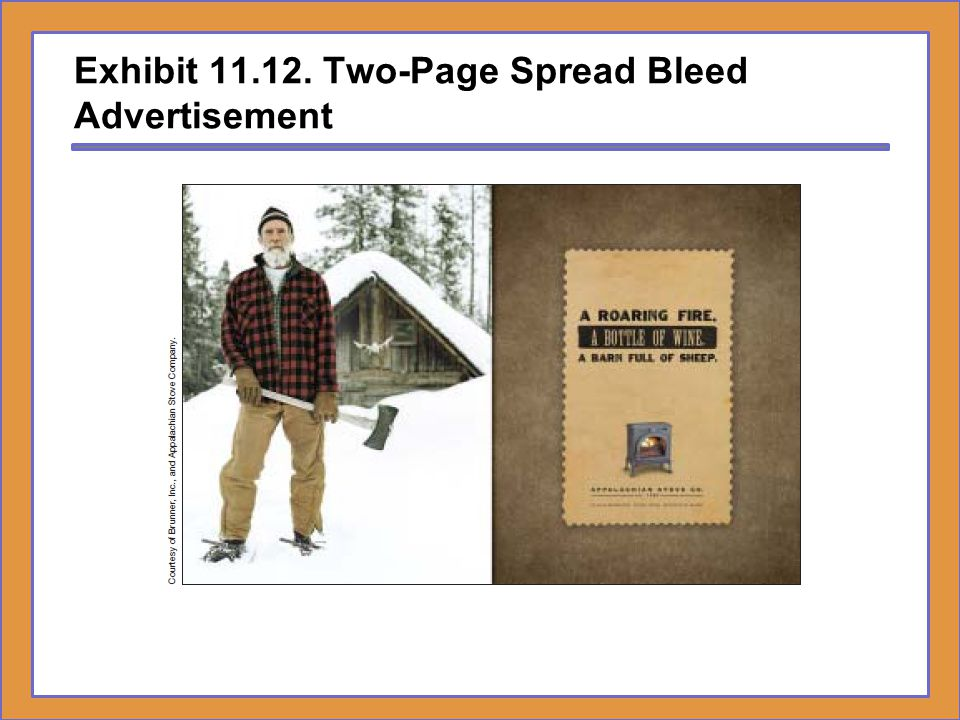 Exhibit 11.12. Two-Page Spread Bleed Advertisement