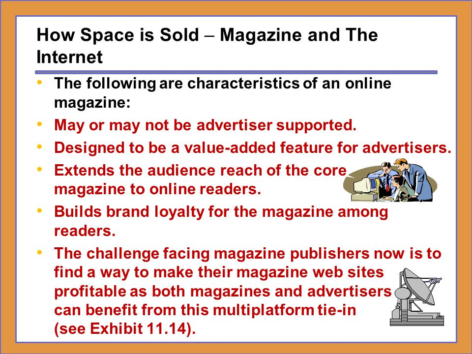 How Space is Sold – Magazine and The Internet