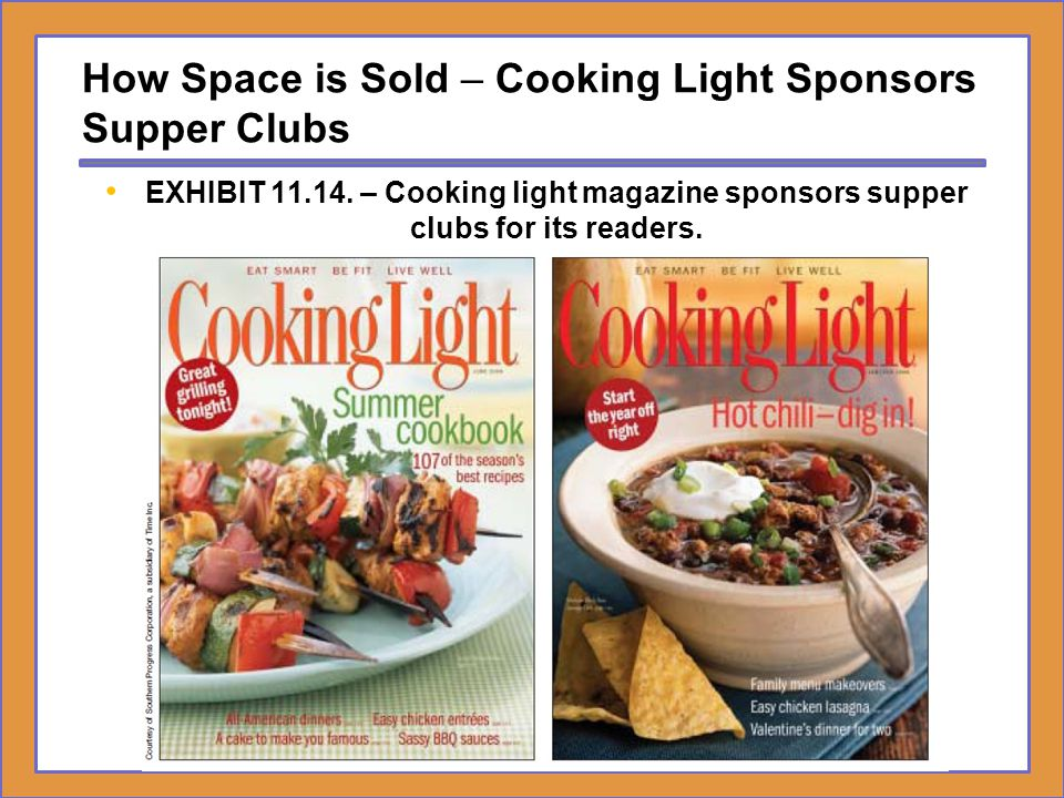 How Space is Sold – Cooking Light Sponsors Supper Clubs