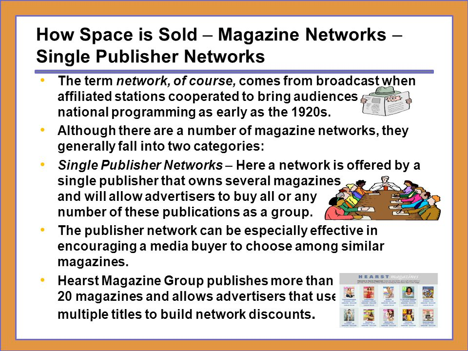 How Space is Sold – Magazine Networks – Single Publisher Networks