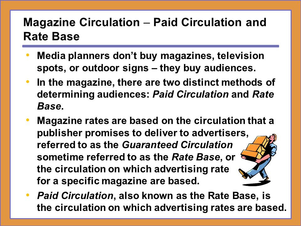 Magazine Circulation – Paid Circulation and Rate Base