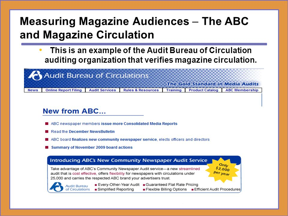 Measuring Magazine Audiences – The ABC and Magazine Circulation