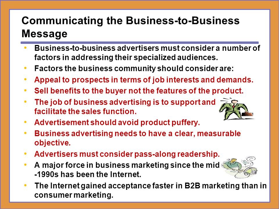 Communicating the Business-to-Business Message