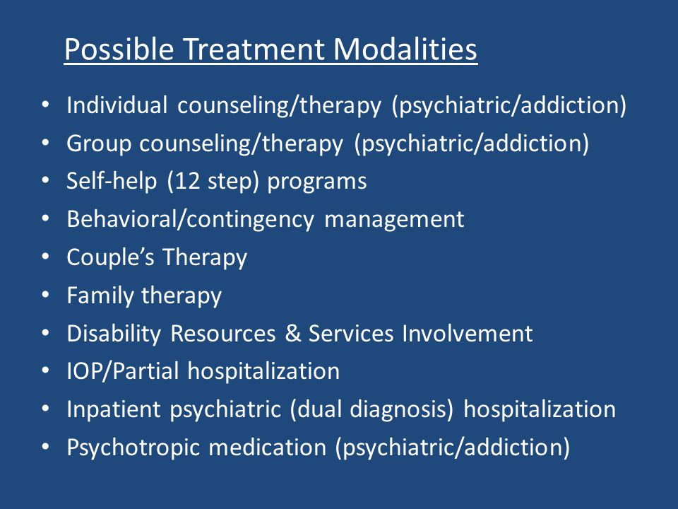 Possible Treatment Modalities