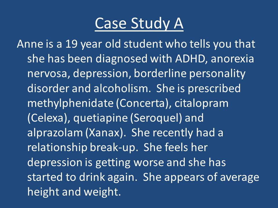 case study of adhd student Case study student age: 5 disability: autism grade level: pre-school emily stewart june 24, 2002 the student that i am observing for.