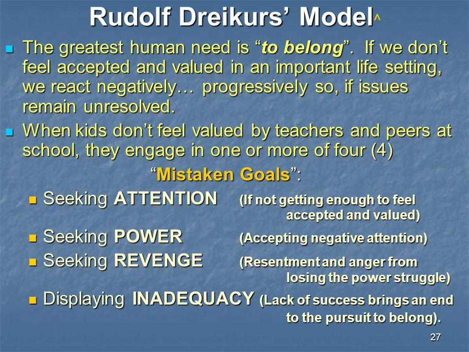 Rudolf Dreikurs' Model^