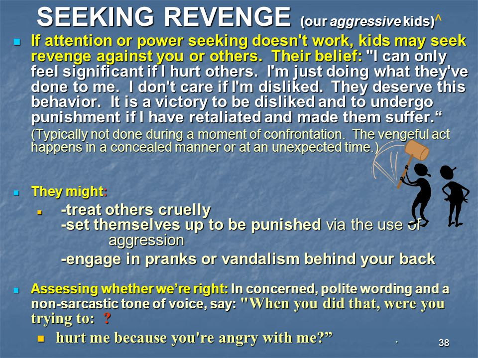 SEEKING REVENGE (our aggressive kids)^