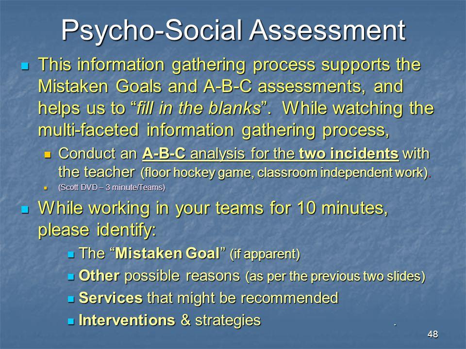 Psycho-Social Assessment