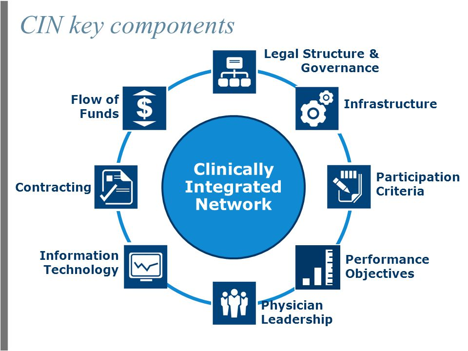 CIN key components Clinically Integrated Network