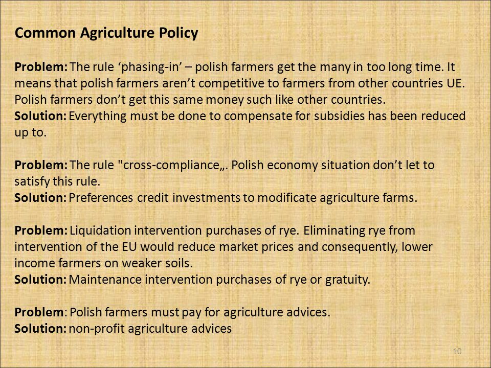 Common Agriculture Policy