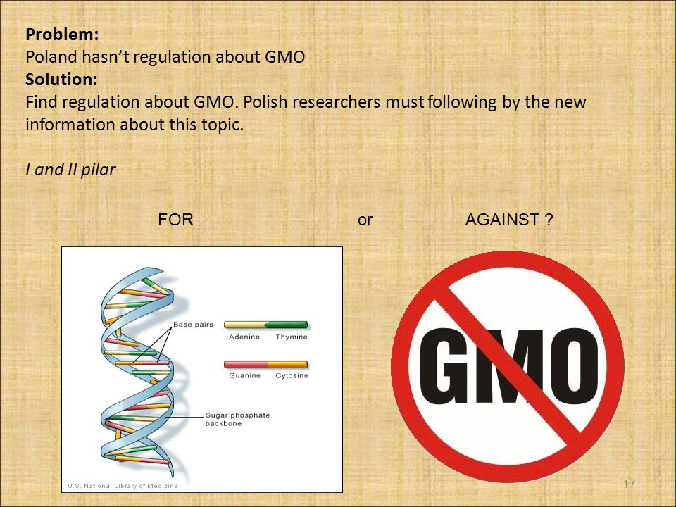 Poland hasn't regulation about GMO Solution: