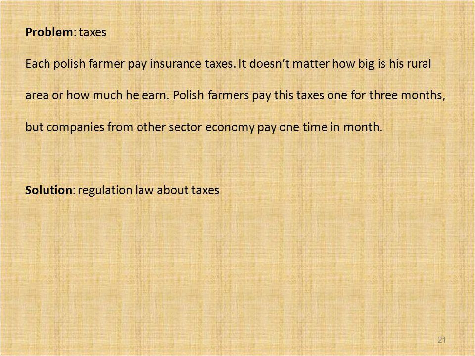 Problem: taxes