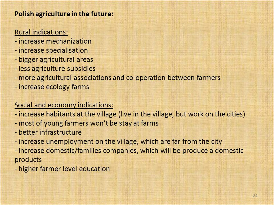 Polish agriculture in the future: