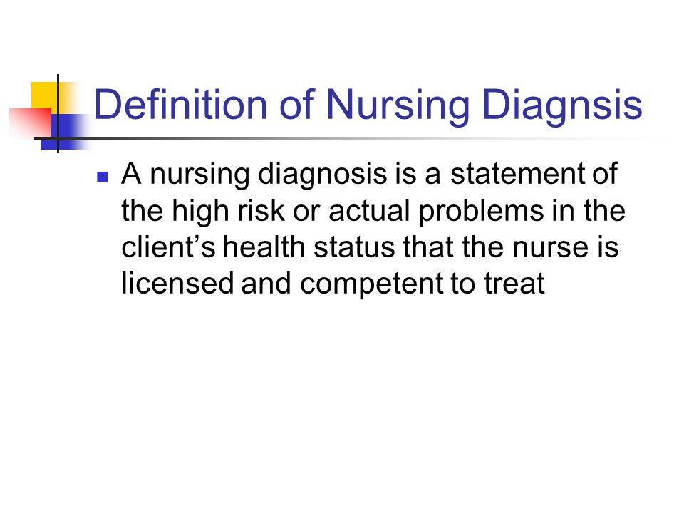 Definition of Nursing Diagnsis