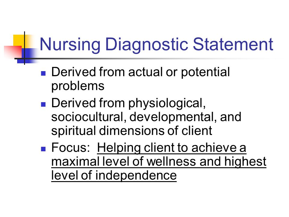 Nursing Diagnostic Statement
