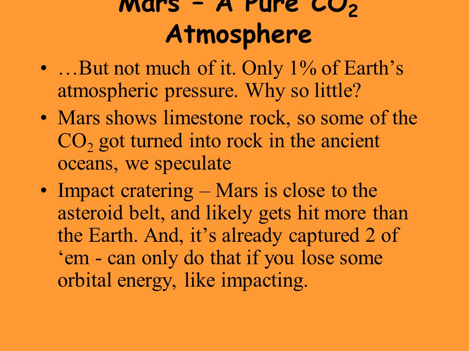 Mars – A Pure CO2 Atmosphere