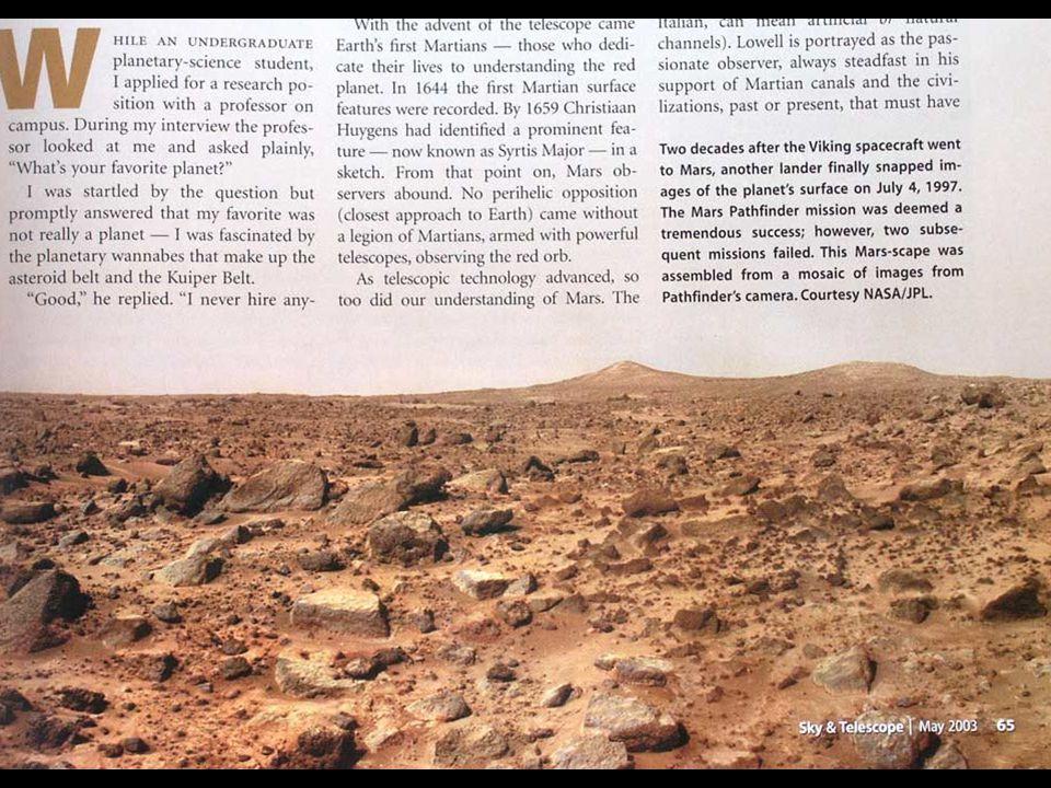 Martian surface; pathfinder