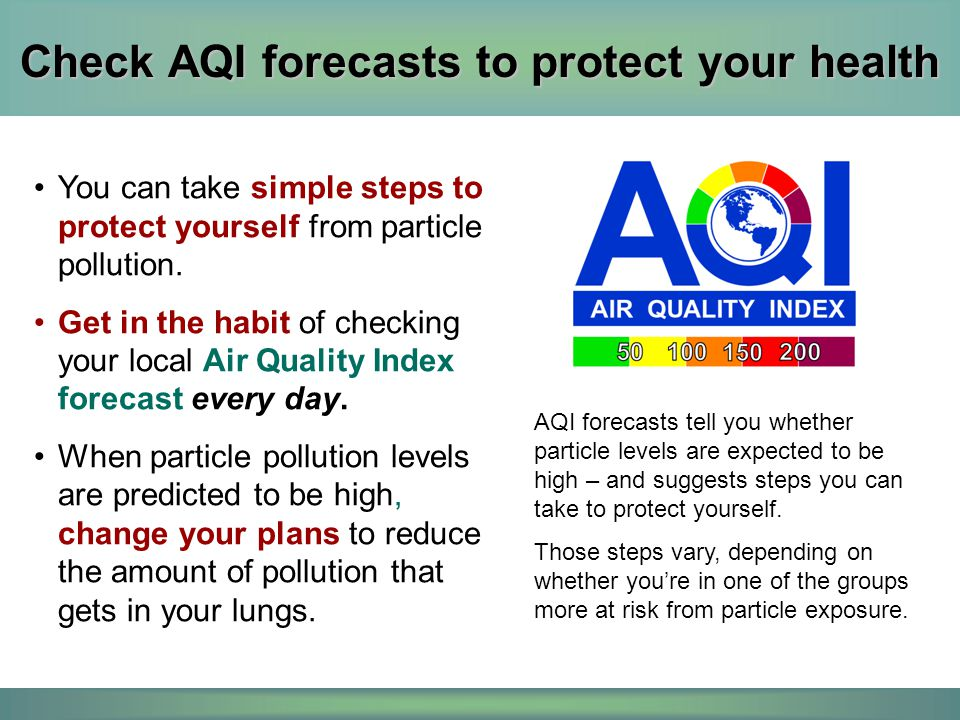 Check AQI forecasts to protect your health
