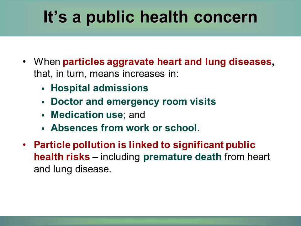 It's a public health concern