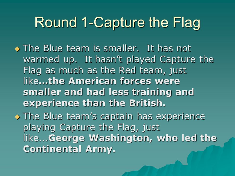 Round 1-Capture the Flag