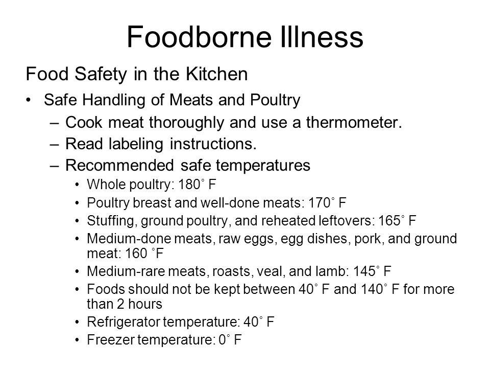 Foodborne Illness Food Safety in the Kitchen