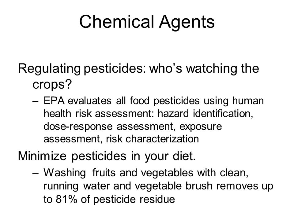 Chemical Agents Regulating pesticides: who's watching the crops