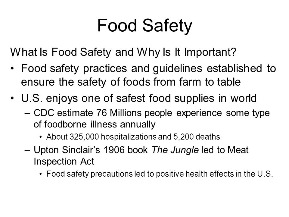 Food Safety What Is Food Safety and Why Is It Important