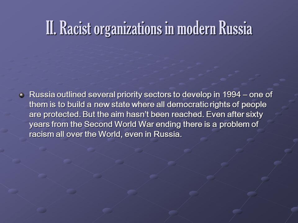 II. Racist organizations in modern Russia