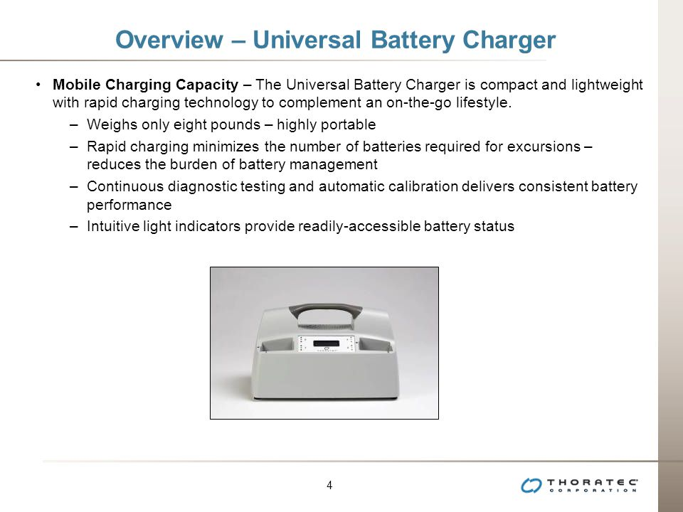 Overview – Universal Battery Charger